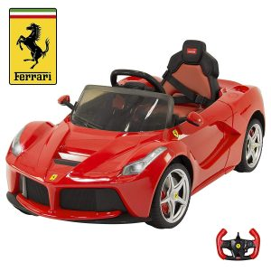Kid's 82700 Rastar LA Ferrari Electric Ride on Car with Mp3 and Remote Control, 12V, Red
