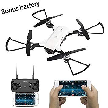 YH - 19HW 2.4GHz Foldable RC Selfie Drone - RTF - WHITE 0.3MP CAMERA 236017501