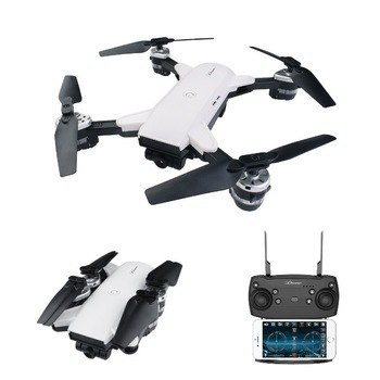 YH - 19HW 2.4GHz Foldable RC Selfie Drone - RTF - WHITE 0.3MP CAMERA